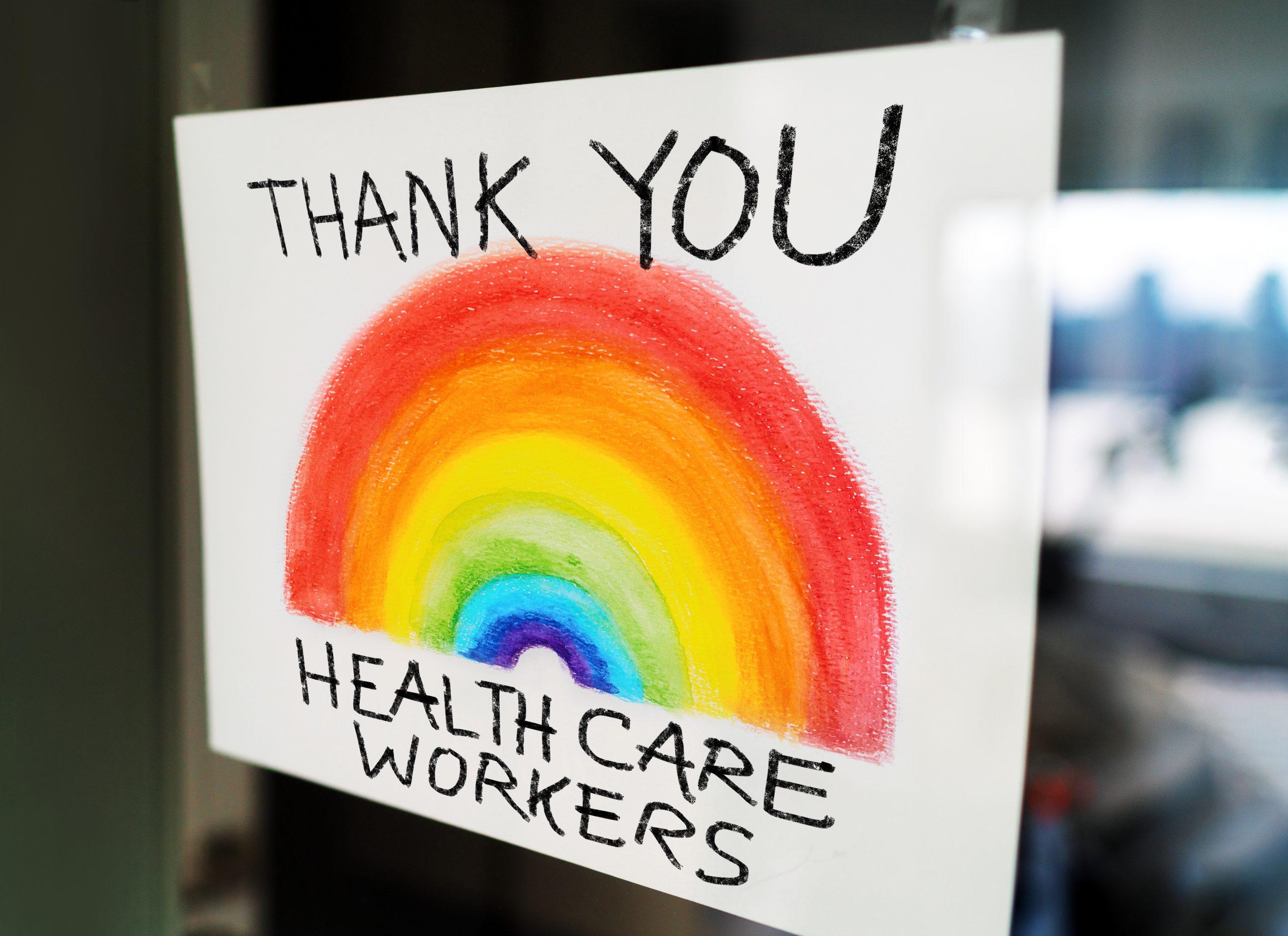 dessin de remerciement au personnel soignant